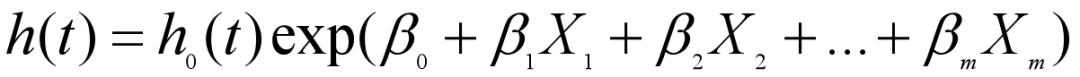 Cox回归的风险函数公式