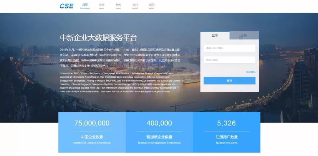 中新跨境企业大数据服务平台